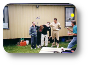 Me watching JM's 500 jump pie at Fraser Valley Skydive Center where I was DZ Coordinator for a while.