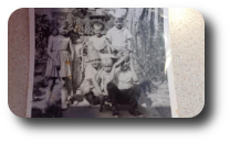 Me, 1964, Bobby, my sister Carrie and Teddy and the Mooneys at  at Khulna Newsprint Mills Colony, Kalishpur, Khulna, East Pakistan ( Bangladesh 1964 1965 )